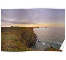 Cornwall: Final Light over the Rumps Poster