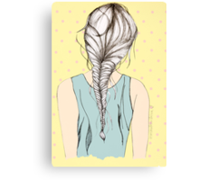 Hair Braid Canvas Print