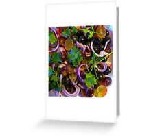 Grape & Red Onion Salad Greeting Card