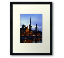 An evening in Zurich   Framed Print