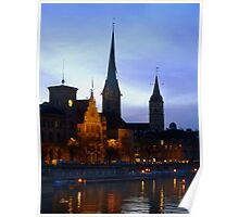 An evening in Zurich   Poster