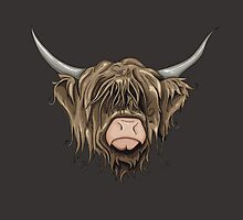 Highland Cow by Stu  Jones