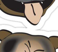 Staffy heads Sticker