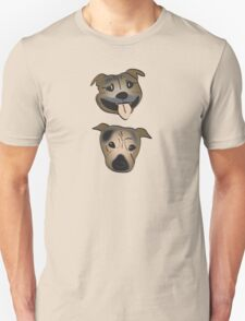 Staffy heads Unisex T-Shirt