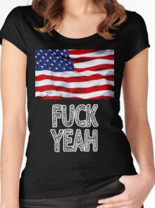 America - Fuck Yeah Women's Fitted Scoop T-Shirt