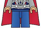 Thor Body Tshirt by Jonathan  Ladd
