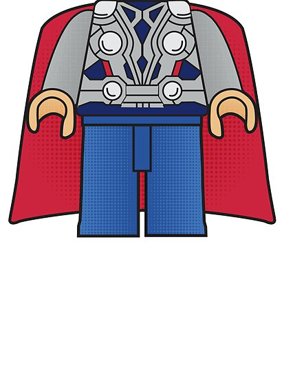 Thor Body Tshirt by Jonathan  Ladd