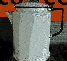 Vintage Coffee Pot by Jose M  Pacheco