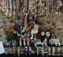 Shrine to Virgen de Guadalupe, Chimayo  by Jose M  Pacheco