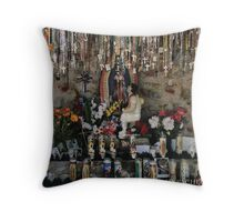 Shrine to Virgen de Guadalupe, Chimayo  Throw Pillow