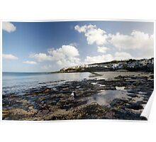 The Beach at Portscatho  Poster