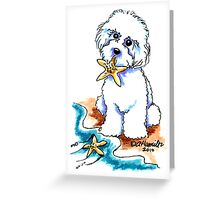 Beach Babe Bichon Greeting Card
