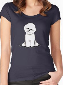 Bichon Frise Sit Pretty Women's Fitted Scoop T-Shirt