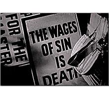 Sin  Photographic Print