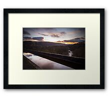 river dee seen from pontcysyllte aqueduct Framed Print
