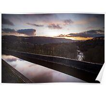 river dee seen from pontcysyllte aqueduct Poster