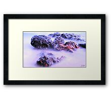Fluid Rocks Framed Print
