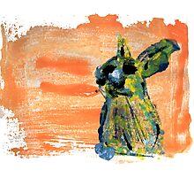 Painted Rabbit Photographic Print