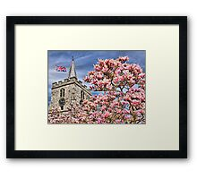 St Lawrence Church - Chobham Framed Print