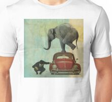 Looking for Tiny _ elephant on a red VW Unisex T-Shirt