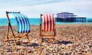 Deckchairs - Brighton Beach - Orton  by Colin  Williams Photography