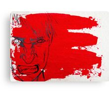 Red Rage at Society  Canvas Print