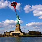 "Statue of liberty ""HELP"" by Martin Dingli"