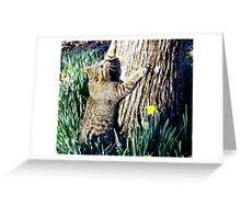 The Tree hugger Greeting Card