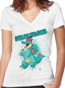 POKEMON: Feraligatr Women's Fitted V-Neck T-Shirt