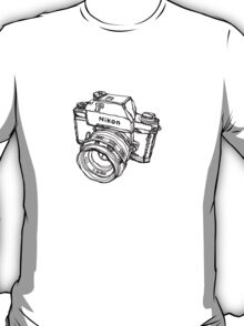 Nikon F Classic Film Camera Illustration T-Shirt