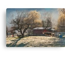 Morning Farmyard 1  Canvas Print