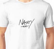 ONE WORD: Nasty - Black Thin Script Tee Unisex T-Shirt