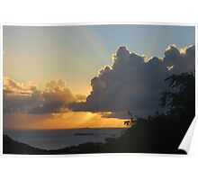 Sunset in St John ,US Virgin Island  Poster