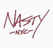 ONE WORD: Nasty - Red Thin Script Tee by 1WORD