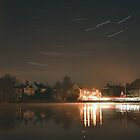 Star-trails over Lindfield Village Pond by Matthew Floyd