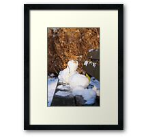 First Snow:  Rotterdam Framed Print