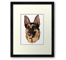 Candy German Sheppard Rescue Framed Print