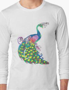 Rainbow Peacock Long Sleeve T-Shirt