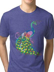 Rainbow Peacock Tri-blend T-Shirt