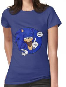 Sonic Boom - I Fired You Womens Fitted T-Shirt