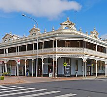 Section of the Mall, Tenterfield, NSW, Australia by Margaret  Hyde