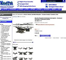 Radio Control Helicopters Electric - 4 Channel 2.4GHz Scorpion Gunship by berrymartin