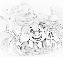 A Rendering of Yesteryears Toys by Sherry Hallemeier