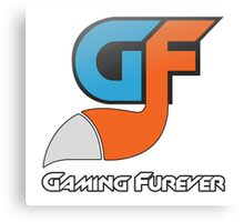 Gaming Furever Logo White Outlined Canvas Print