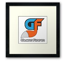 Gaming Furever Logo White Outlined No Shiny Framed Print