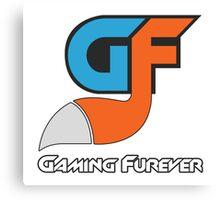 Gaming Furever Logo White Outlined No Shiny Canvas Print