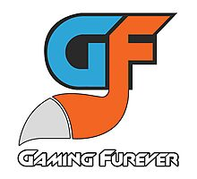 Gaming Furever Logo White Outlined No Shiny Photographic Print