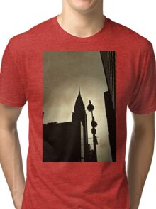 a red light in vampire town Tri-blend T-Shirt