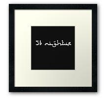 Future - 56 Nights  Framed Print