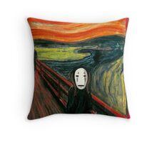 The Spirited Scream Throw Pillow